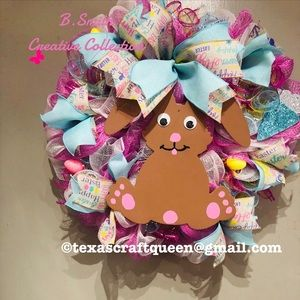 Beautiful Easter Bunny Wreath
